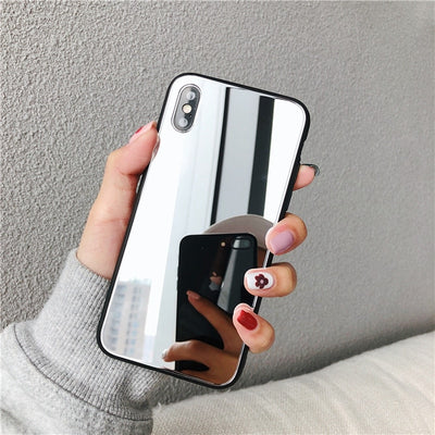 Luxury Full Makeup Mirror Built in iphone Case