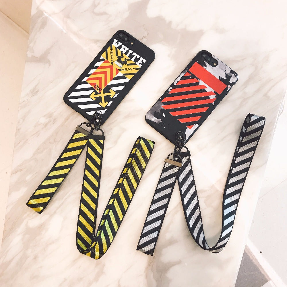 low priced 82ac4 3e8ad off-white iphone cases with lanyard