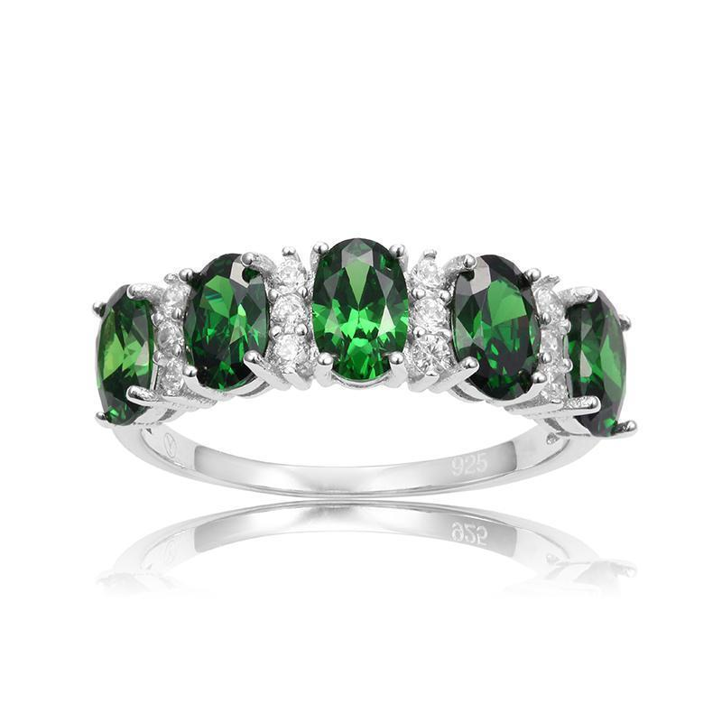 coloured image diamond three stone rings jewellery platinum emerald jewellers ring finnies the