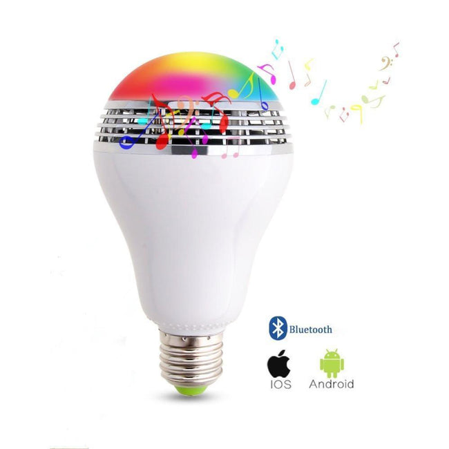 LED Bluetooth Light Color Adjustable Speaker Music Lights Bulb With Remote Control