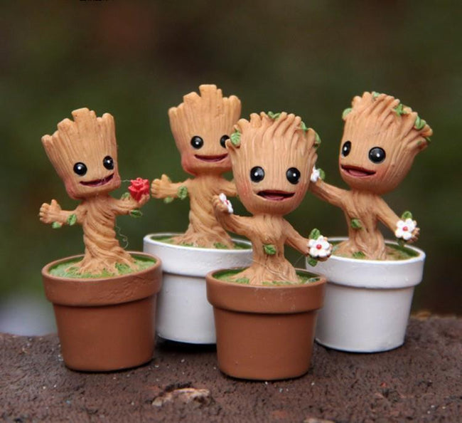 Mini Cute Groot Toy Figure