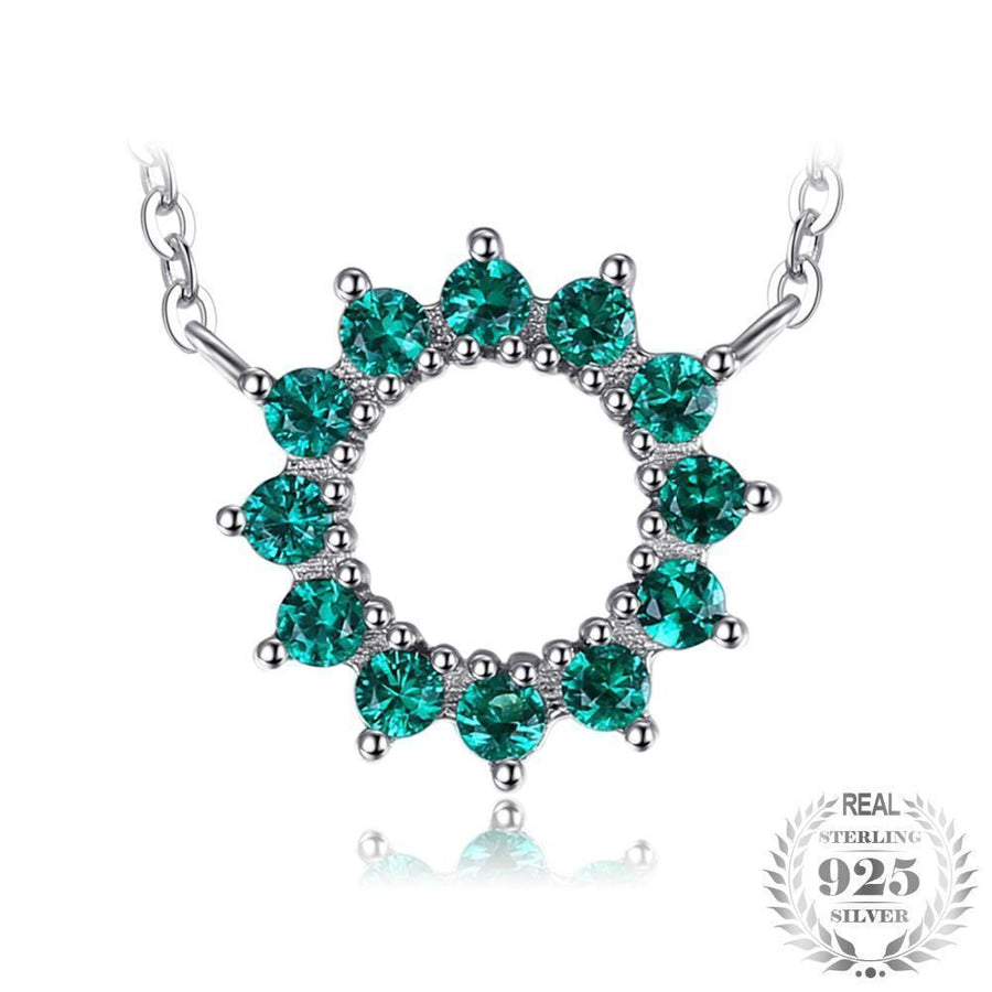 zm emerald silver mv hover necklace en sterling kaystore kay lab zoom to created