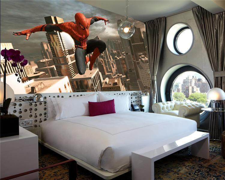 ... Spider Man Custom 3D Wallpaper Bedroom, Sofa Background Wall ...