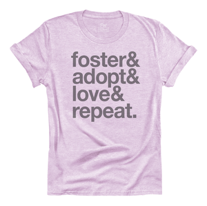 Foster Adopt Love Repeat SS Tee
