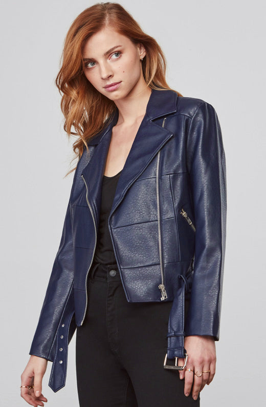 Maria Faux Leather Jacket