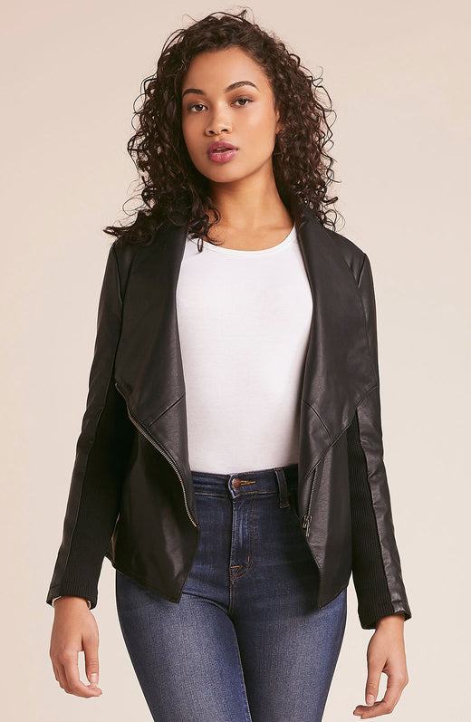 Gabrielle Faux Leather Jacket