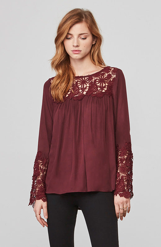 Zanna Lace Long Sleeve Top