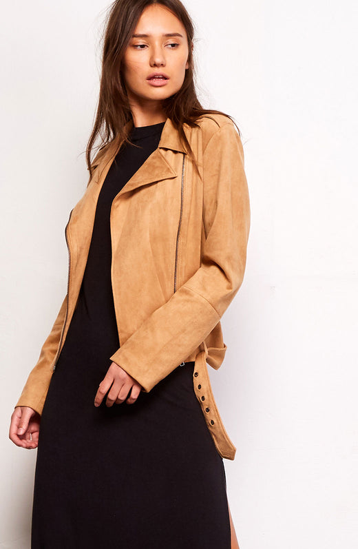 Nathan Faux Suede Jacket