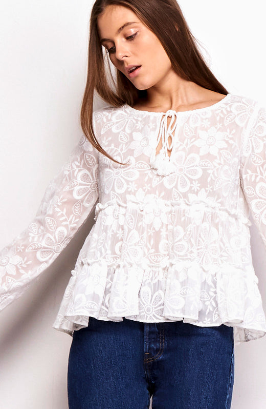 Isobel Embroidered Top