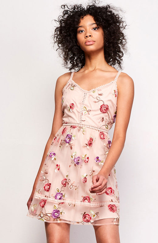 Gemma Embroidered Dress