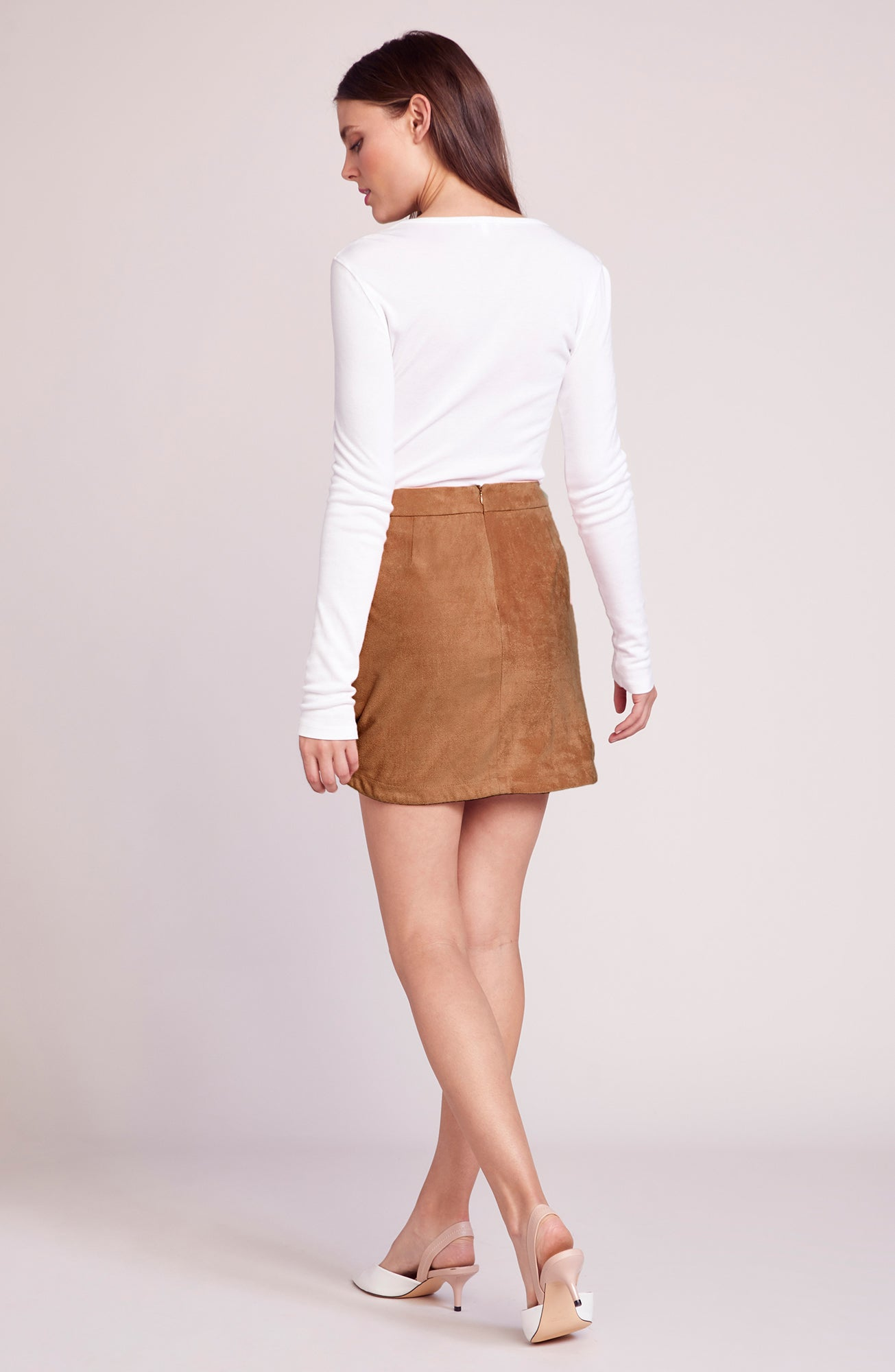 Annette Faux Suede Skirt