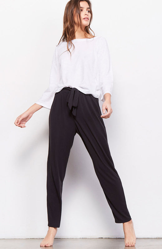 Casual Turn-Up Paperbag Waist Pant