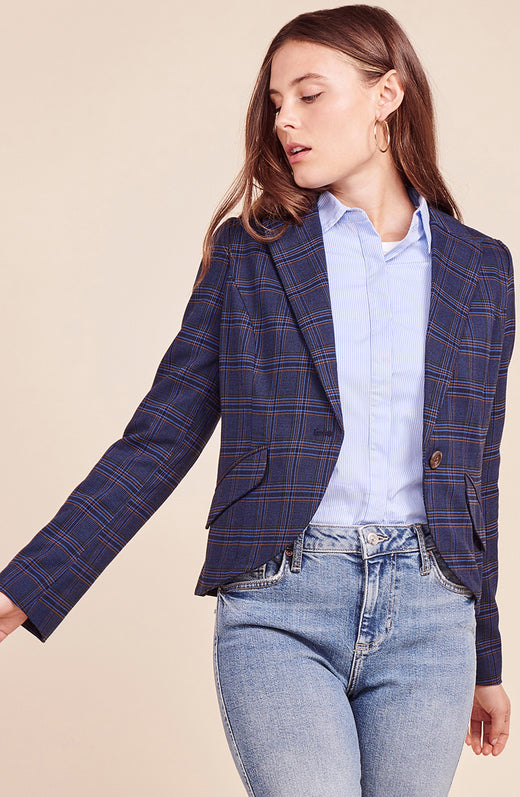 Hold Your Horses Plaid Blazer