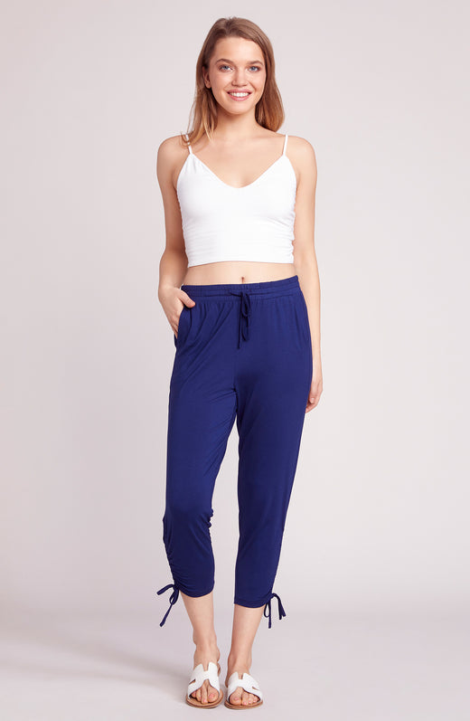 In a Cinch Ruched Hem Pant