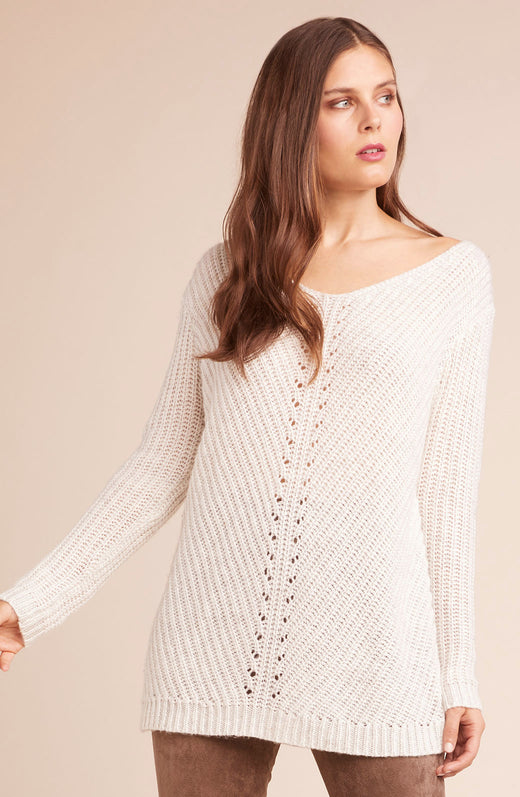 Bedroom Dancing Lace Up Back Sweater
