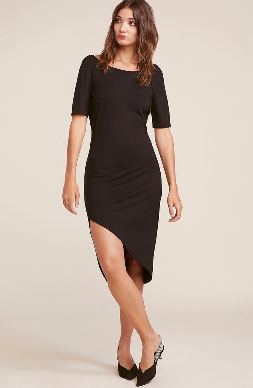 Off Duty Side Drape Dress