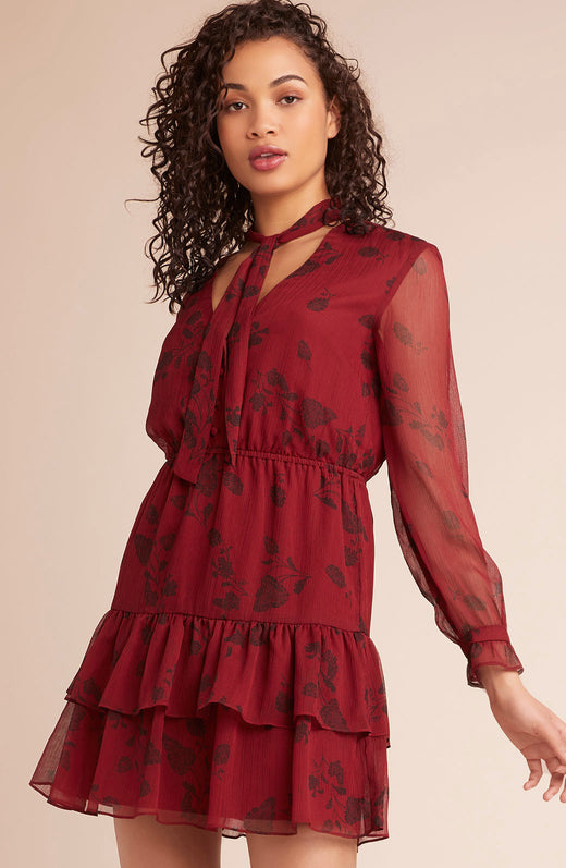Wine Down Printed Dress