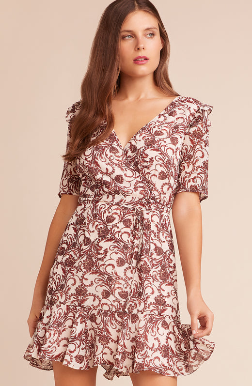 Twirl Wind Printed Dress