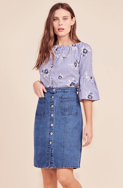 On Cloud Nine Denim Skirt