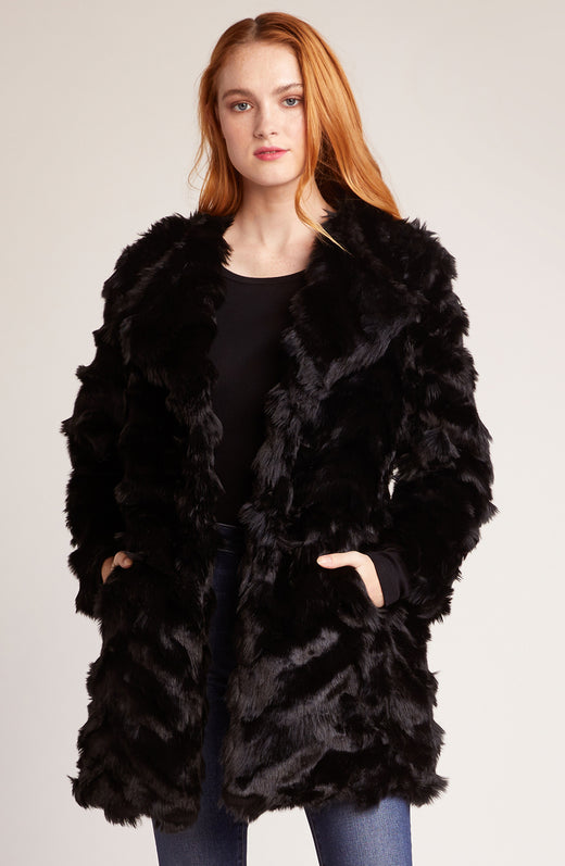 It's All Happening Faux Fur Coat