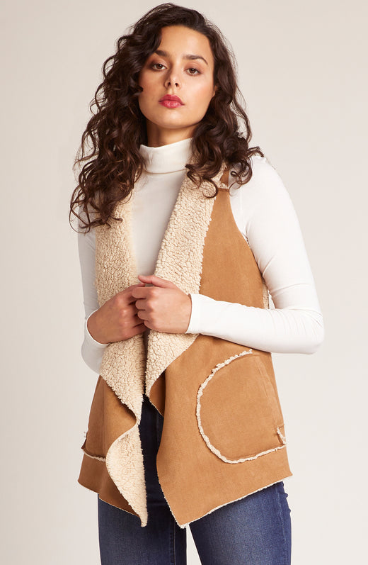 Easily Suede Sherpa Vest