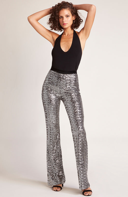 Saturday Night Fever Sequin Flared Pant