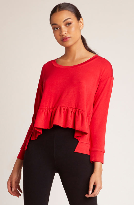 Got It Goin On Ruffle Hem Sweatshirt