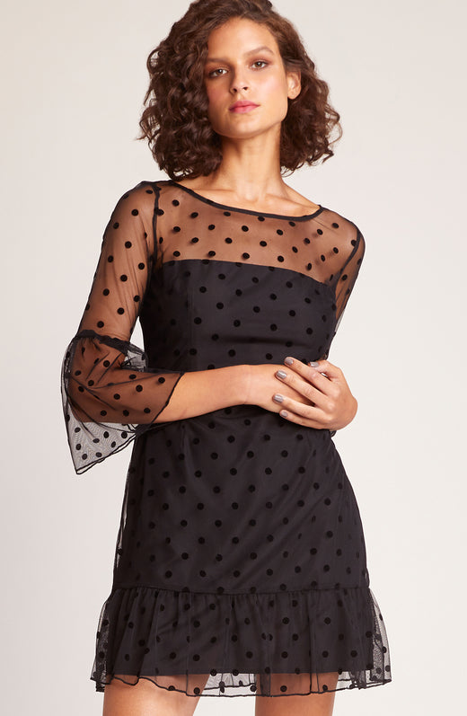 X Marks the Dot Mesh Dress