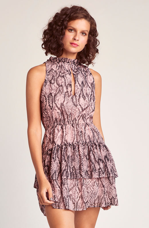 Wild Child Snake Printed Dress