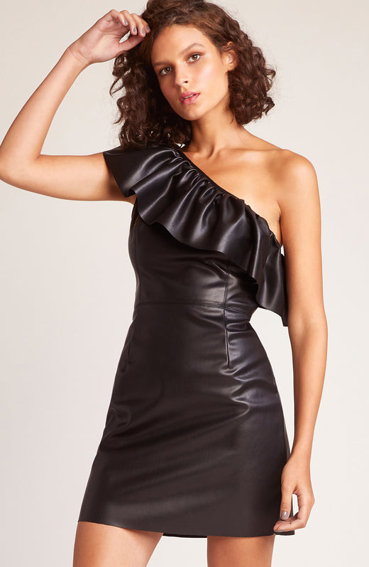 Head Babe in Charge One Shoulder Dress