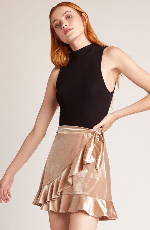 Look This Good Velvet Wrap Skirt