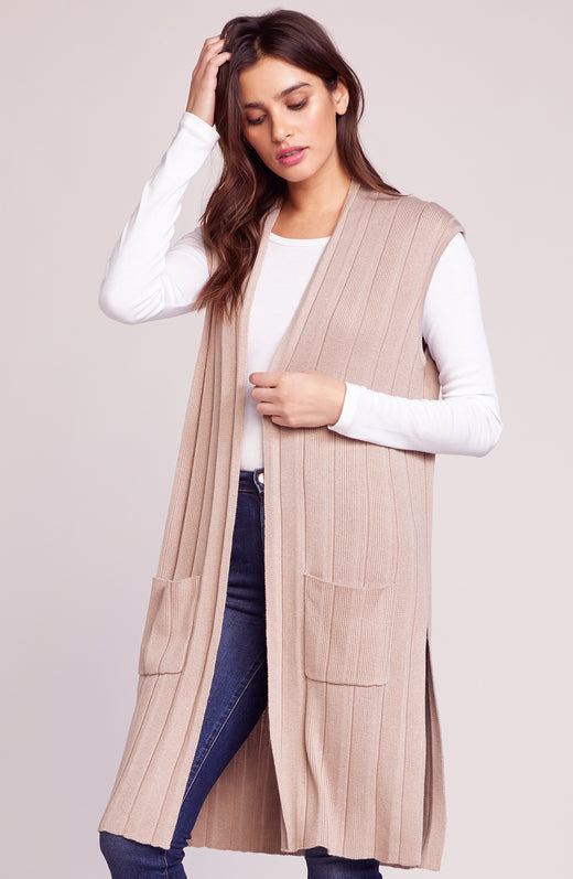 It's About Time Ribbed Long Vest