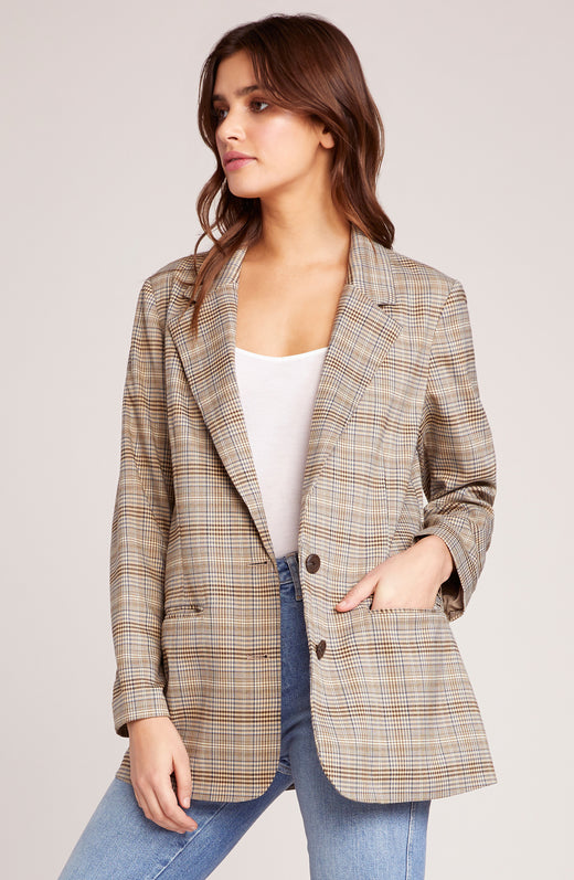 Heathers Plaid Boyfriend Blazer