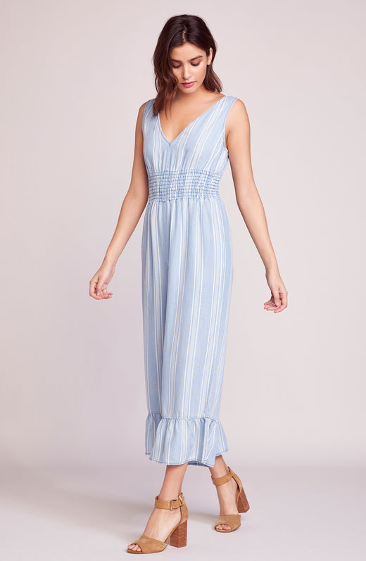 Indigo Flow Stripe Jumpsuit