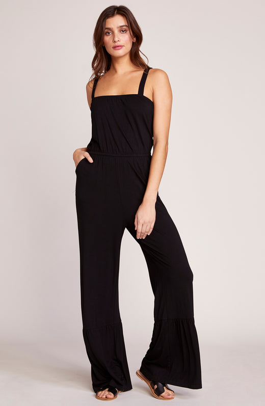 Devil May Flare Cross Back Jumpsuit