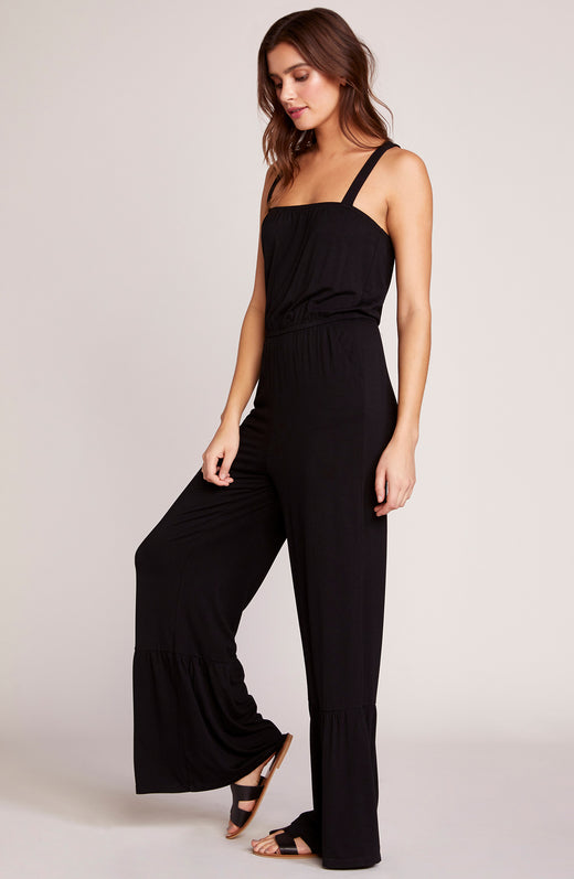 48b0194ca61 Devil May Flare Cross Back Jumpsuit