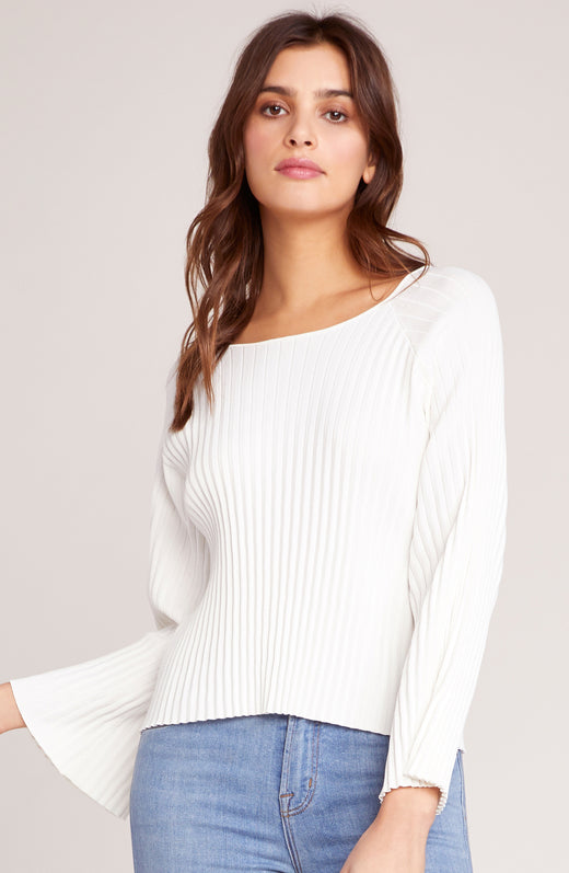 Pleats To Meet You Pleated Sweater