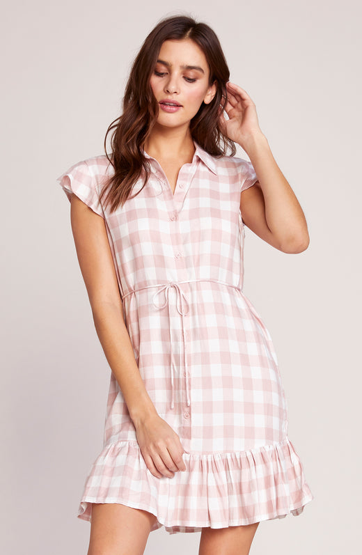 Check Please Shirt Dress