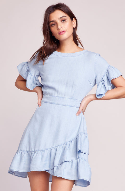 Indigo Dreams Ruffle Dress