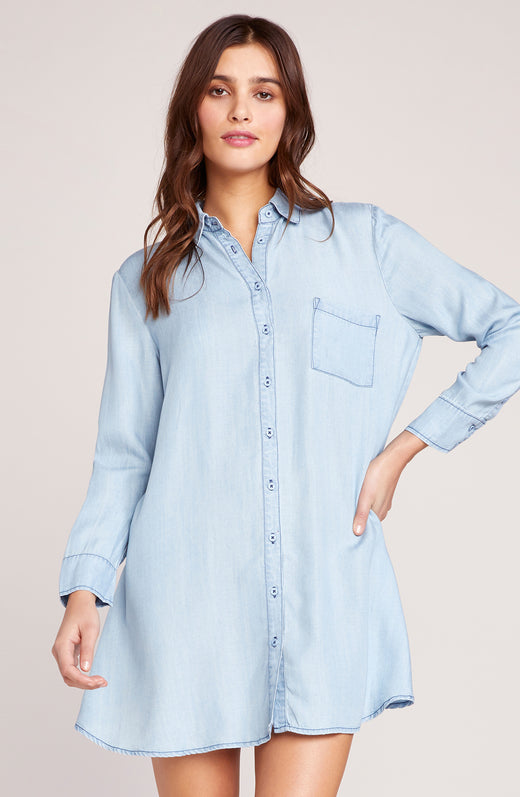 Shirty Personality Shirt Dress