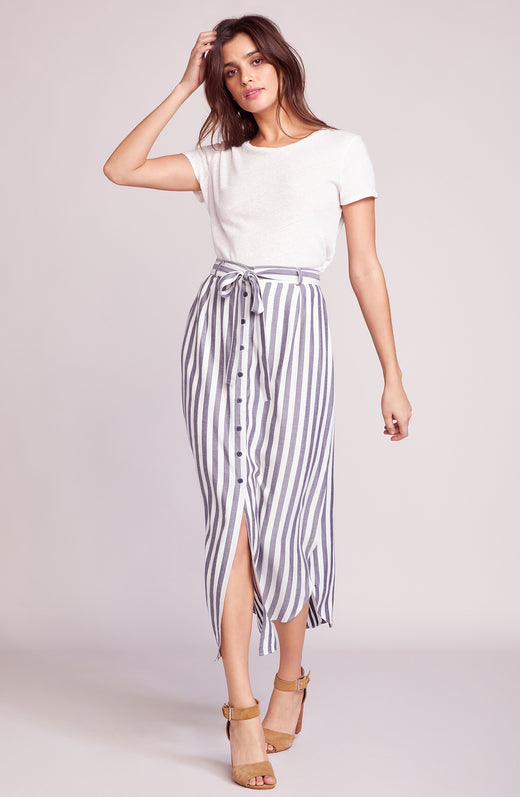 Stripe I Like Midi Skirt