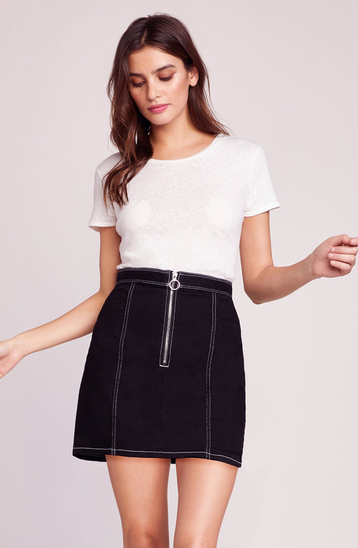 Zip To It Zip Front Skirt
