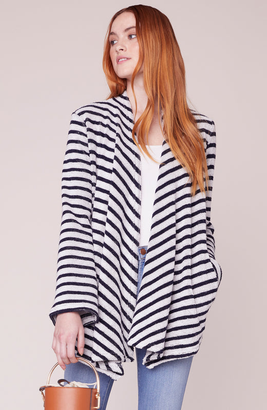 Just Your Stripe Knit Jacket