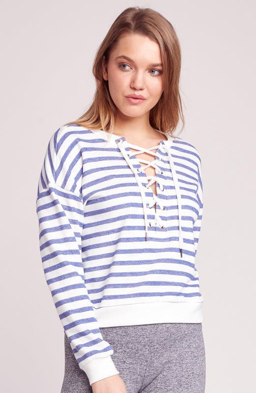 On Deck Lace Up Sweatshirt