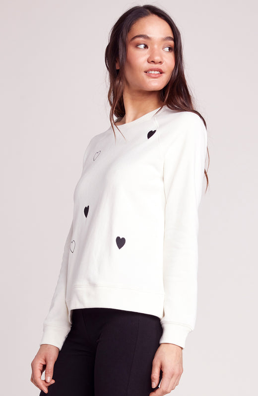 Skip a Beat Embroidered Sweatshirt