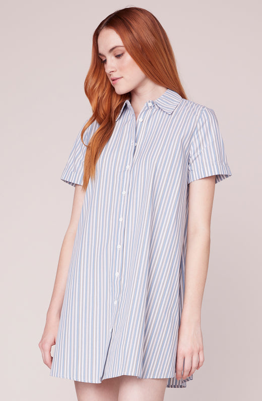 Stripe a Personality Shirt dress