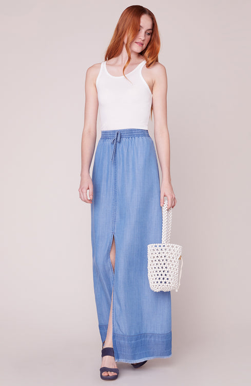 b73f3fa91 Max Me Out Front Slit Maxi