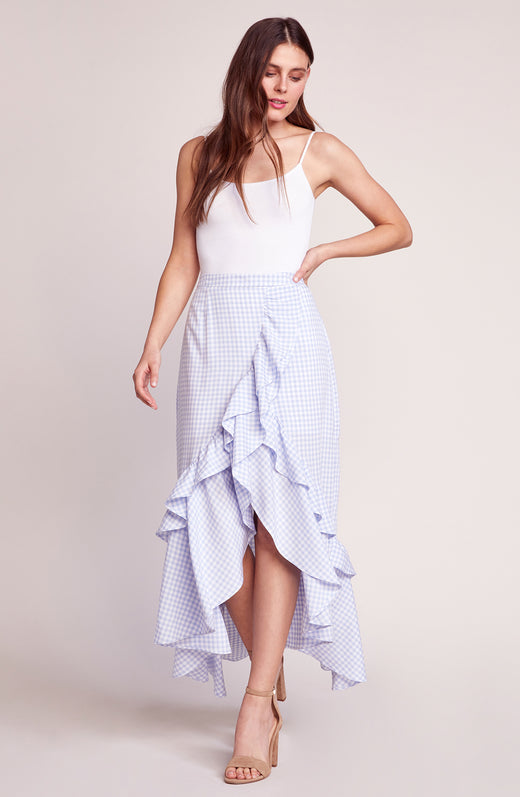 Go Gingham Tiger Ruffle Maxi