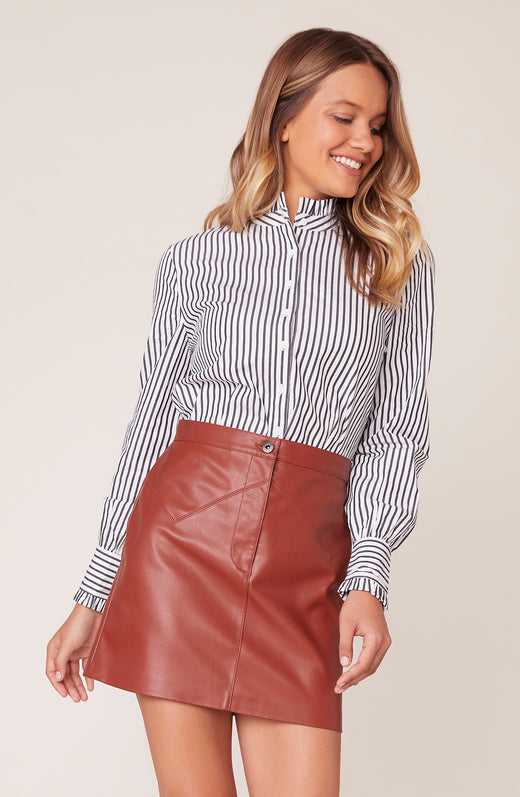Life Is Ruffle Stripe Top