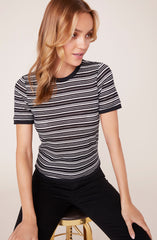 Fairisle Fancy Short Sleeve Stripe Top